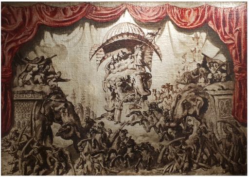 José María SERT Y BADIA - Painting - Las aventuras de Simbad el marino