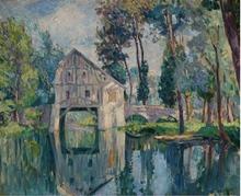 Henri Baptiste LEBASQUE - Painting - Le moulin