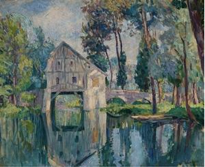 Henri Baptiste LEBASQUE - Pintura - Le moulin