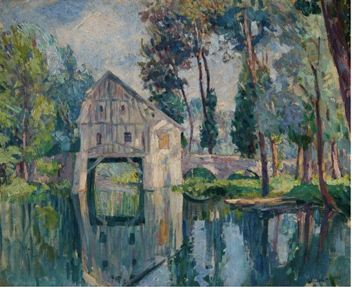 Henri Baptiste LEBASQUE - Gemälde - Le moulin