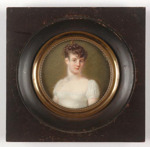 """Miniatur - """"Comtesse D'Uzech"""", outstanding miniature, 1805/10"""