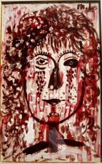 Mikhail LARIONOV - Painting - Tete de Jeune Fille
