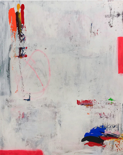 Tommaso FATTOVICH - Painting - Bones (Abstract painting)