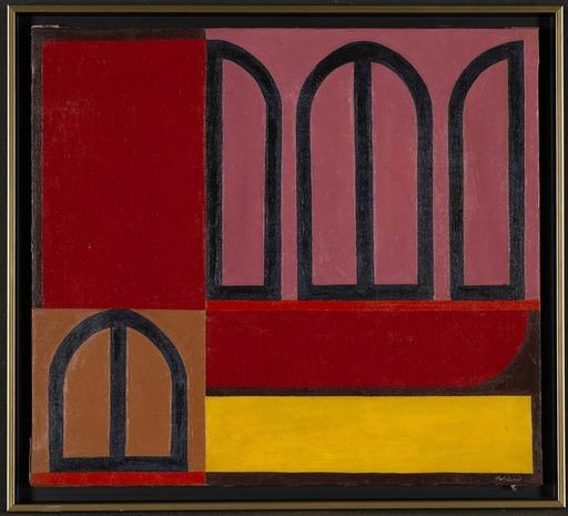 Jo DELAHAUT - Gemälde - Mauve-rouge