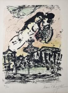 Marc CHAGALL - Print-Multiple - Le ciel des amoureux