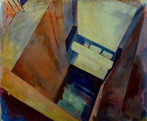 Aude MOUILLOT - Painting - « Étang 8 »