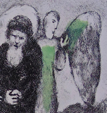 Marc CHAGALL - Grabado - The Descent Toward Sodom