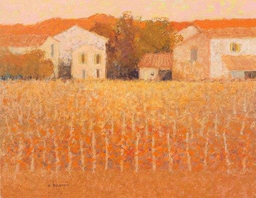 André BOURRIE - Pintura - Vignes en Bordelais