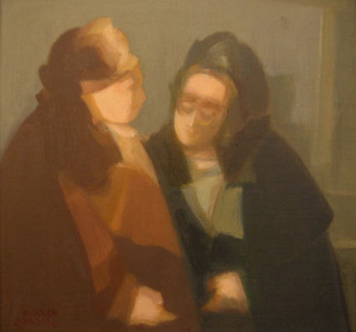 Avraham GOLDBERG - Painting - Conversation