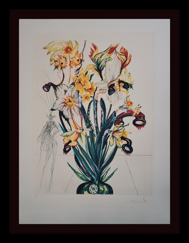 萨尔瓦多·达利 - 版画 - Florals Narcissus Phones Andalou