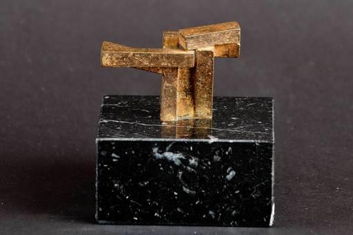 """Jorge OTEIZA DE - Escultura - """"Construcción vacía con 4 ud. binarias"""""""