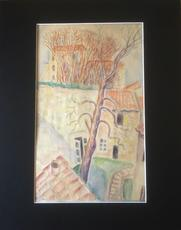Marie Vorobieff MAREVNA - Drawing-Watercolor - Village in the South-east of France