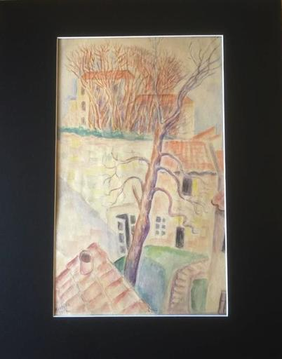 Marie Vorobieff MAREVNA - Dibujo Acuarela - Village in the South-east of France