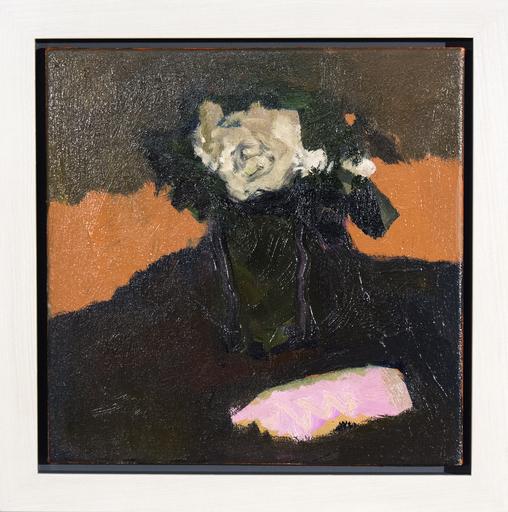 Jennifer HORNYAK - Pintura - Cream Rose with Pink