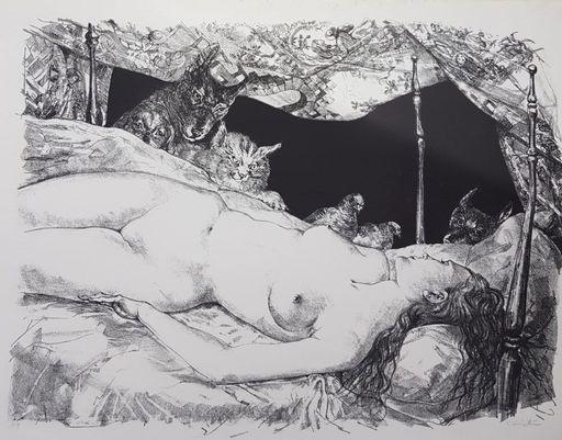 Tsuguharu FOUJITA - Print-Multiple - La Reve