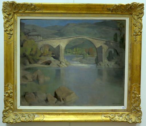 André REGAGNON - Pittura - Pont en Ariège