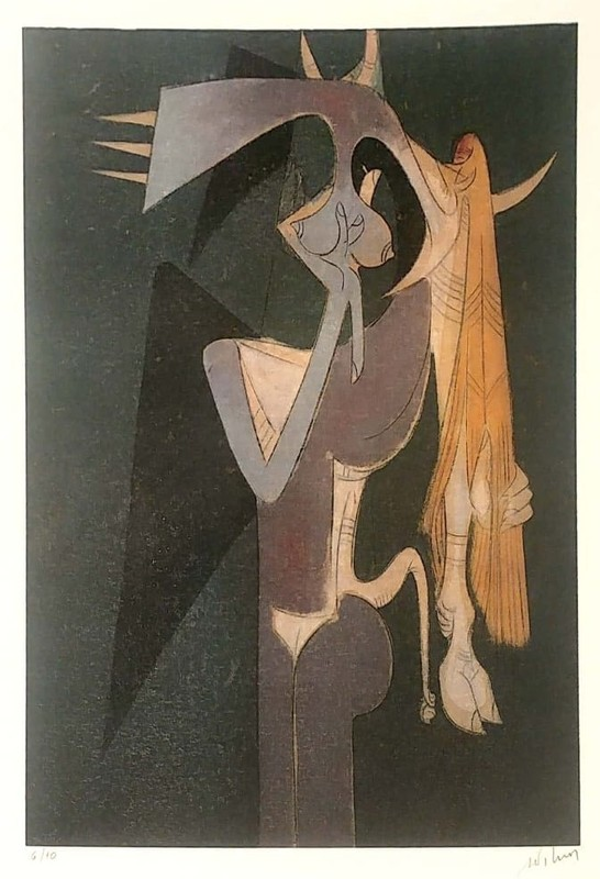 Wifredo LAM - Print-Multiple - Surrealistic Figuers
