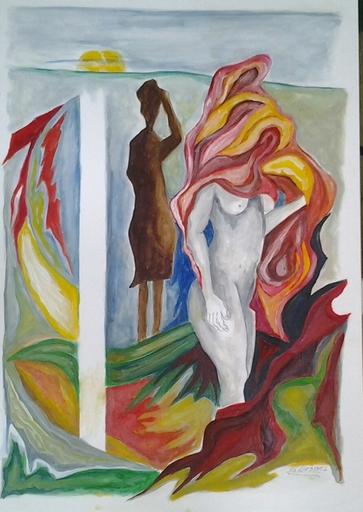 Romeo MESISCA - Disegno Acquarello - Figure in movimento