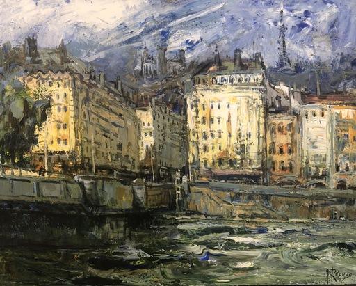 Gilbert PECOUD - Gemälde - Fourvière sur galerie