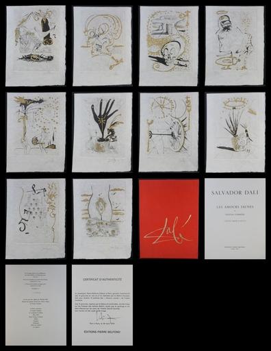 萨尔瓦多·达利 - 版画 - Les Amours Jaunes Complete Suite