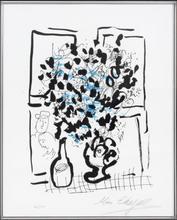 Marc CHAGALL (1887-1985) - LE BOUQUET NOIR ET BLEU