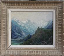 René BEAUCLAIR - Painting - PAYSAGE DE MONTAGNE