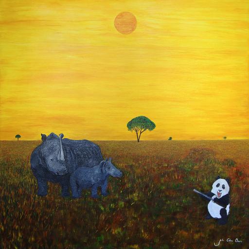 Julio César OSORIO - Painting - Pandemonium    (Cat N° 6103)