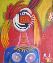 Abol ATIGHETCHI - Gemälde - L'AFRICAINE