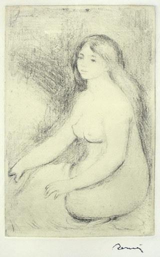 Pierre-Auguste RENOIR - Print-Multiple - Baigneuse Assise (Delteil; Stella 11)
