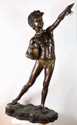 Giovanni DE MARTINO - Skulptur Volumen - Child with amphora and crab