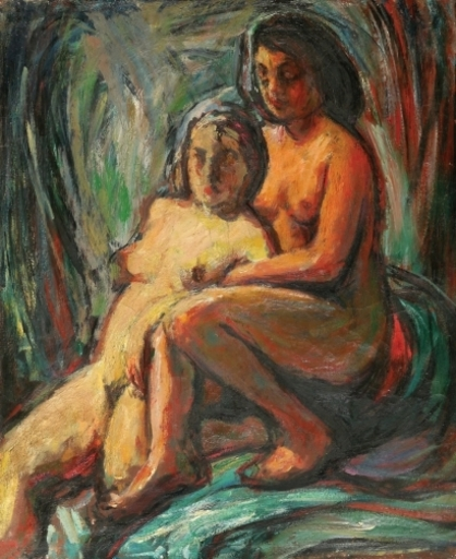 Seweryn SZRAJER - 绘画 - Two Nudes