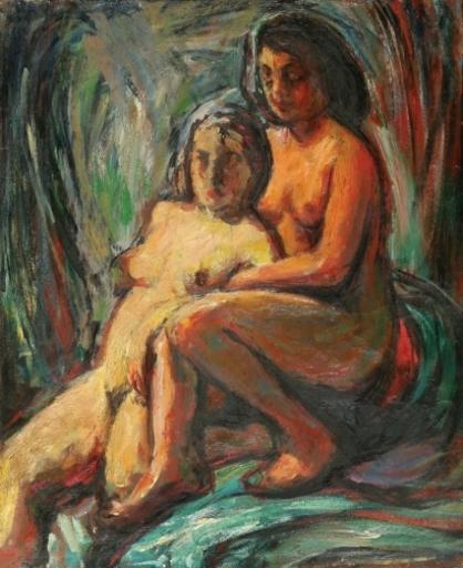 Seweryn SZRAJER - Gemälde - Two Nudes