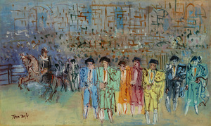 Jean DUFY - Peinture - Les toreros
