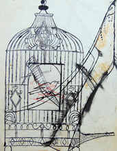 Andy WARHOL (1928-1987) - Bird in a Cage and Shoe
