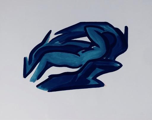汤姆•韦瑟尔曼 - 版画 - Blue Nude #4