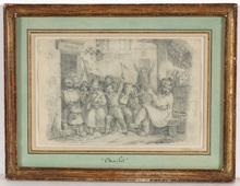"Nicolas-Toussaint CHARLET - Dibujo Acuarela - Nicolas Toussaint Charlet (1792-1845) ""Caricature"""