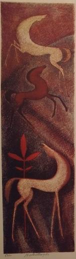 Karel OBERTHOR - Grabado - Danse animale