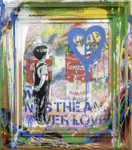 MR BRAINWASH - Pittura - With All My Love (canvas)