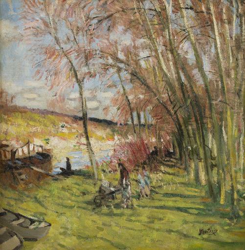 Pierre Eugène MONTEZIN - Peinture - Les Grand Peupliers