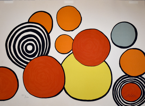 Alexander CALDER - Stampa Multiplo - Composition II, from The Elementary Memory