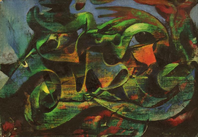 马克思•恩斯特 - 绘画 - Surrealist Composition