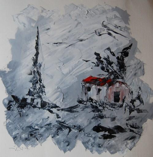 Serge Louis TUQUET - Drawing-Watercolor - Pastorale de papier