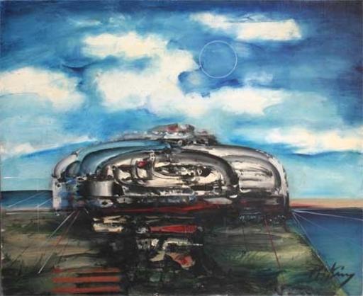 Franz PRIKING - Pittura - Représentation du Cosmos