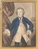 """George Perfect HARDING - Zeichnung Aquarell - """"Baroque Portrait"""", Early 19th C., Watercolor"""