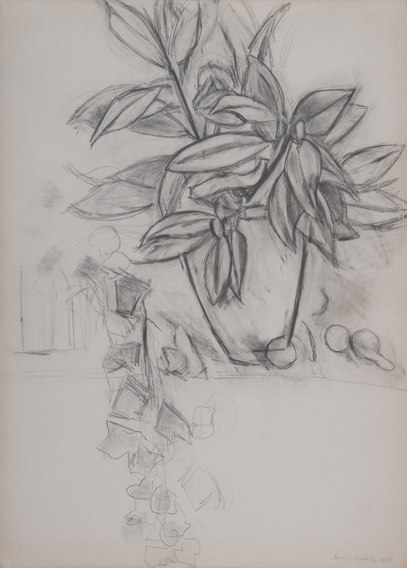 Henri MATISSE - Drawing-Watercolor - Nature morte au lierre