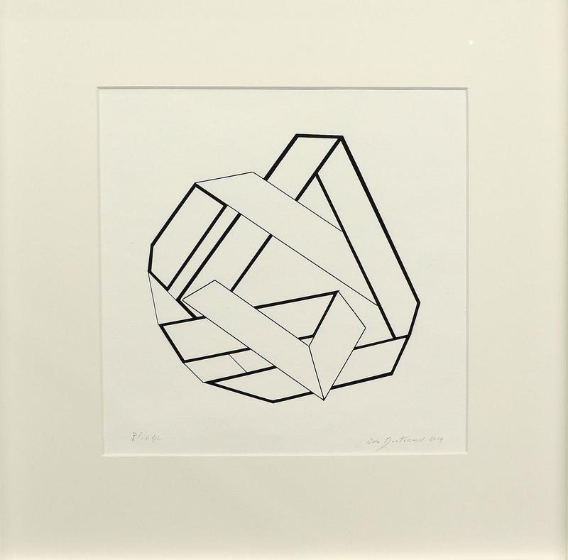 Ode BERTRAND - Drawing-Watercolor - Pliage et Entrelacs II