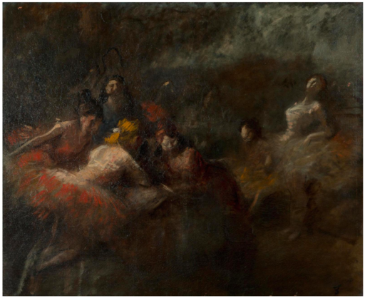 Jean-Louis FORAIN - Painting - Danseuses en coulisse