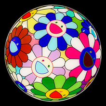 Takashi MURAKAMI - Ceramic - FLOWER BALL CHARGER PLATE