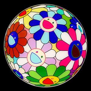 Takashi MURAKAMI - Cerámica - FLOWER BALL CHARGER PLATE