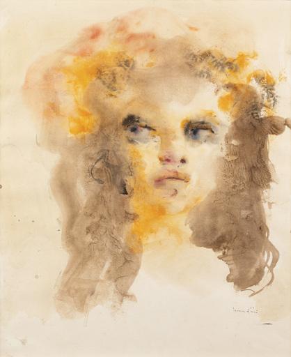 Leonor FINI - Drawing-Watercolor - visage